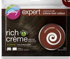HERBAL HALAL HAIR/DYE COLOUR BY GODREJ NATURAL BROWN FREE SHAMPOO Unisex