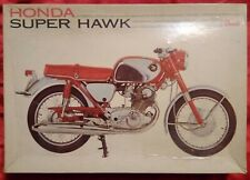 1966 Revell 1/8 Scale Honda Super Hawk Motorcycle Model Kit Complete But Started