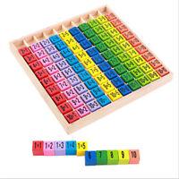 Educational Child Kids Wood Toy 99 Multiplication Table Math 10*10 Figure Blocks