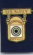US Navy Distinguished Marksman Rifleman badge in gold