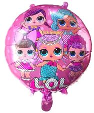 LOL Surprise Dolls Helium Quality Pink Foil Balloon 44cm Girls Party Decoration