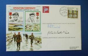 1992 FALKLAND ISLANDS CAMPAIGN COVER SIGNED BY F/M VINCENT & GEN DE LA BILLIERE