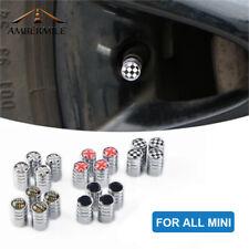 4 pcs Metal Car Wheel Tire Valve Caps Cover for Mini Cooper R55 R56 F54 F55 F56