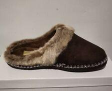 Coolers Women's Brown Faux Fur Lined Mule Slippers • Size 4 • BNIB T40
