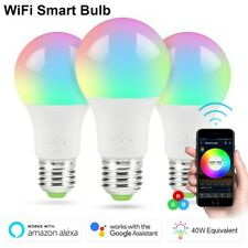 1/2/3/4 Pack WiFi Smart LED Light Bulb Dimmable App Remote Control Alexa Google