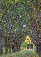 Gustav Klimt - Avenue - A4 size 21x29.7cm QUALITY Canvas Art Print Unframed