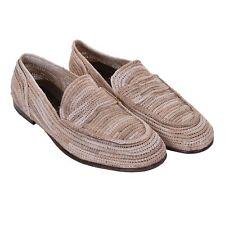 DOLCE & GABBANA Raffia Straw Moccasins Slipper Shoes AMALFI Beige 08055
