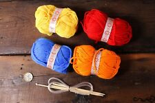 DIY Knitting Starter Kit Set Beginner Kids Gift 4 Yarns Crochet Knitting Needle
