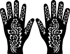 #Hand Temporary Tattoo #Henna Glitter Stencil #Sticker Body Art Vinyl Template