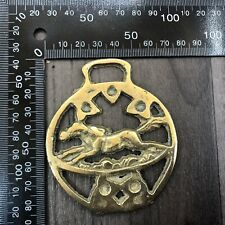 AUTHENTIC VINTAGE BRASS GALLOPING RACING HORSE SHOE BRASSES
