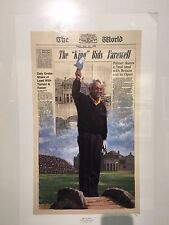 "Arnold Palmer ""The King Bids Farwell"" St. Andrews 1995 -Signed- -Sold Out-"
