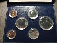 Kursmünzen Kanada 1982 Erstabschlag in original case / first strike / Canada