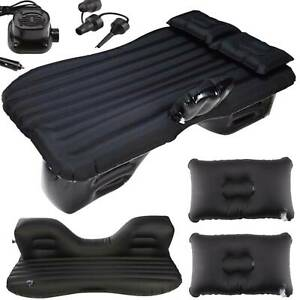 Single Flocked Camping Airbed Inflatable Mattress Blow Up Car Back Seat Air Bed