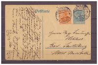 Deutsches Reich, Ganzsache P 120 + ZuF Osterode nach Bad Lauterberg 10.10.1921