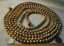 "Christmas Garland Mercury Glass Antique Gold 100"" Long 5/16"" Beads Eb75 Vintage"