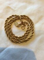 NAPIER Gold G/P Rope Chain 40 Cm LONG Vintage Necklace 1980s  VGC