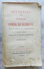 ***** SOUVENIRS DU GENERAL COMTE DE RUMIGNY - R.-M. GOURAUD D'ABLANCOURT - 1921