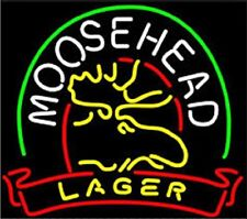 "New Moose Head Lager Neon Sign Beer Bar Light Pub Gift 17""x14"""