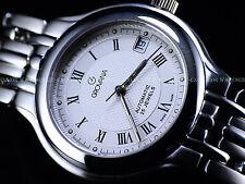 NOS Grovana Men's Swiss Made ETA 2824 Automatic Sapphire Crystal Silver SS Watch