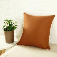 "Solid Colors Cotton Cushion Cover Home Decor Sofa Car Throw Pillow Case 18""*18"""