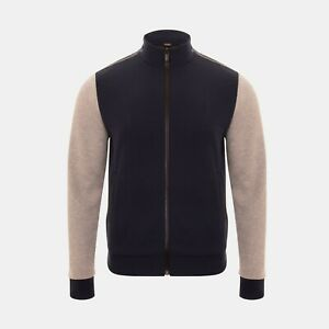 Fendi Panelled Full Zip Jacket In Navy Blue RRP £470 *SOLD OUT WORLDWIDE🌍*