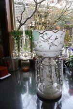 victorian glass lustre vase