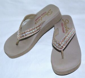 Skechers Womens Yoga Foam Flip Flop Thong Sandal Slip On Shoes Size 7