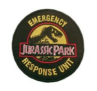 JURASSIC PARK MOVIE LOGO EMBROIDERED IRON / SEW-ON PATCH EMBLEM BADGE APPLIQUE