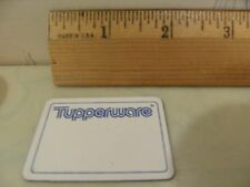 NEW Tupperware 10 WRITE-ON MAGNETS Consultant Name Magnet - RARE VINTAGE GADGET