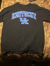 University of Kentucky Wildcats Black short sleeve Blue-white cotton shirt