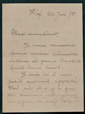 German Composer Siegfried Wagner orig 1895 signed letter in French re premiere