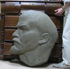 BIG Weight 12 kg COPPER BAS RELIEF LENIN Leader Soviet Russia ORIGINAL USSR 50s