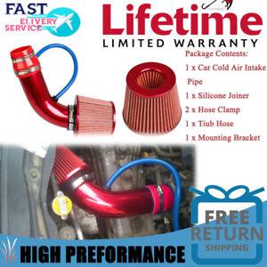 "Air Intake Kit Pipe Diameter 3"" + Cold Air Intake Filter+ Clamp + Accessories US"
