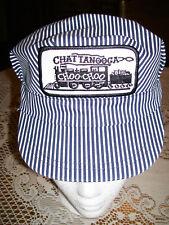 NEW Chattanooga Choo Choo Train Striped Engineer Cap Hat Snapback YOUTH OSFA USA