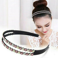 Colorful Crystal Rhinestone Hair Hoop Hairband Hair Hoop Flower Headband Newly