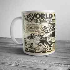 Vintage Army Men Comic Book Ad Toy Soldier WWII Mail In on NEW Funny Coffee Mug