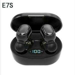 Wireless Bluetooth Headphones Earpiece Earphones Earbuds iPhone Samsung -Black