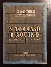 Innocenzo Taurisano - San Tommaso d'Aquino - 1941, Utet
