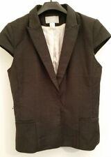 H&M Damen Weste Jackett tailliert mit Gürtel anthrazit/ grau gebraucht 40