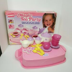 Vintage Playskool Magic Tea Party Set 1991 Complete with box