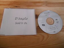 CD pop d'Angelo-send it on (3 chanson) promo virgin/EMI sc