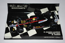 Minichamps F1 1/43 KL MINARDI ASIATECH SHOWCAR 2002 Mark Webber