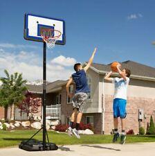 "Portable Outdoor Basketball Goal Hoop System W/ 44"" Backboard Adjusts 7.5 -10 Ft"