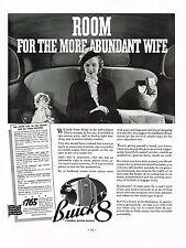 1936 BIG Vintage Buick 8 Roadmaster Motor Car Automobile Interior Photo Print Ad