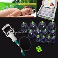 12x Ventouse Massage Médecine Chinoise Cupping +Pistolet Anti Fatigue Douleur