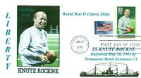 KNUTE ROCKNE Ship named: Football Athlete and Notre Dame Coach First Day Norway