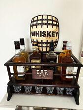 Whisky Minibar Hausbar Barschrank Kellerbar Whiskey Bar Flaschen Regal Holz Fass
