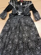 Girls Spiderella Witch Fancy Dress Halloween Costume Aged 11-12 Years
