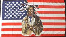 Indian US Flag 5x3 American History USA Line Barn Dance Wild West Western Music