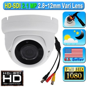 LEXA HD SDI 2.1MP SONY 1080P CCTV Camera Wide 2.8-12mm Dome White Color Starvis